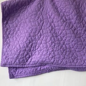 2 Quilted Purple Pillow Shams, Farmhouse, Floral